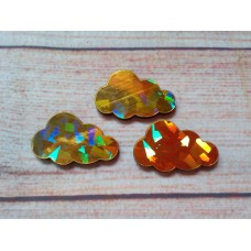 Gold Foiled MDF Cloud 40mm